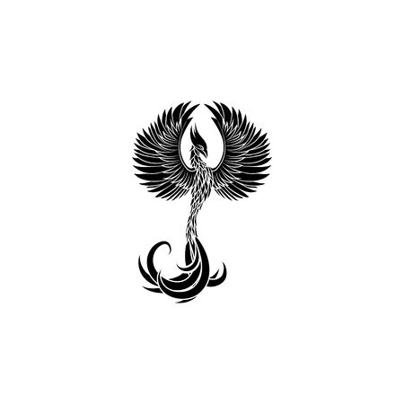 Phoenix icon illustration. Иллюстрация