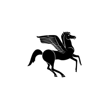 Pegasus icon illustration