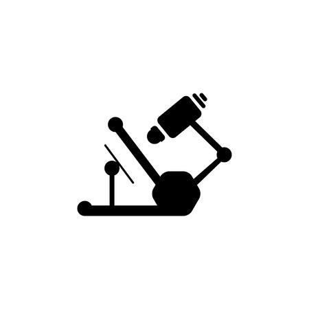 Un icono de microscopio. ilustración vectorial Ilustración de vector
