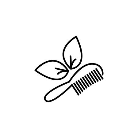 Hairbrush vector isolated