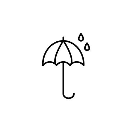 An umbrella icon line. vector illustration Illustration