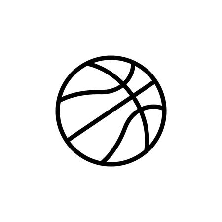 A basketball icon. vector illustration