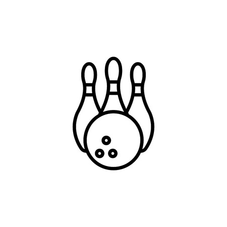 Bowling Pins and Bowling Ball icon.