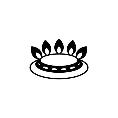 Gas burner icon Illustration