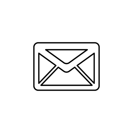 SMS line vector icon. illustration.