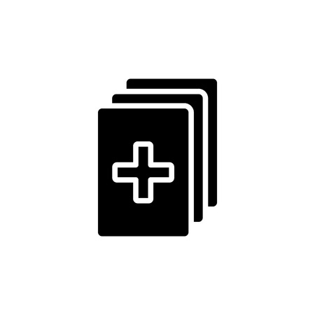 Medical records icon. vector illustration.