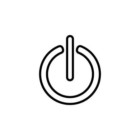 Power onoff line icon.  Illustration
