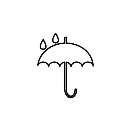 Umbrella line icon vector illustration Ilustrace
