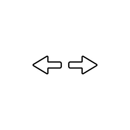 Arrow to left and right line icon