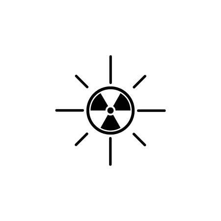 solar radiation icon. Blue sun rays Illustration