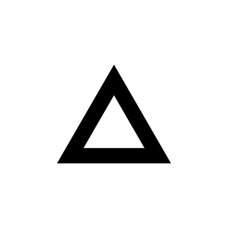 Triangle icon. vector illustration.