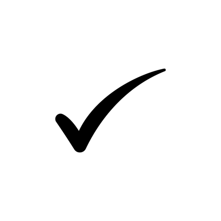 Check mark symbol, vector