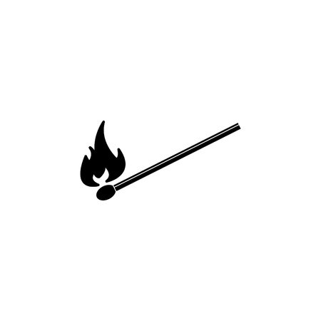 burning match icon. vector illustration Çizim