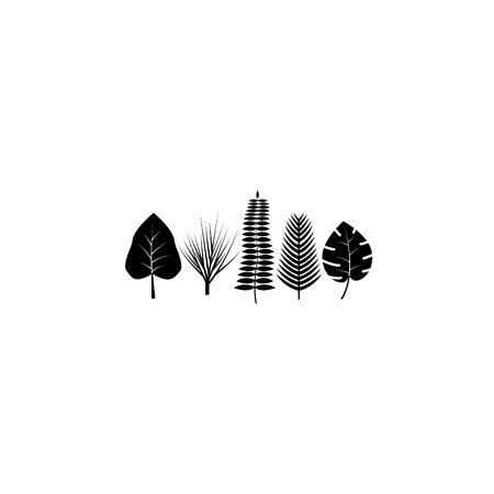 Tropical leaves icon. 向量圖像