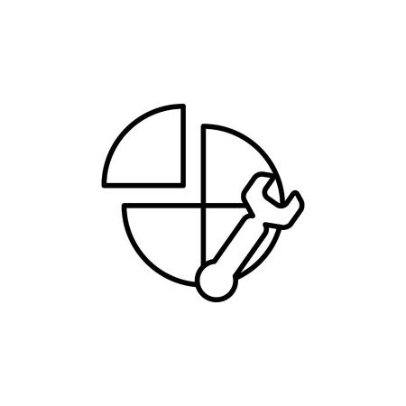 Settings icon. Vector illustration Illustration