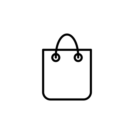 Shopping bag   vector line icon Illustration