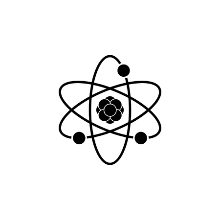 Pictograph of atom. vector illustration Vectores