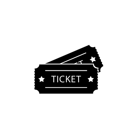 Ticket icon. Vector illustration. Illustration