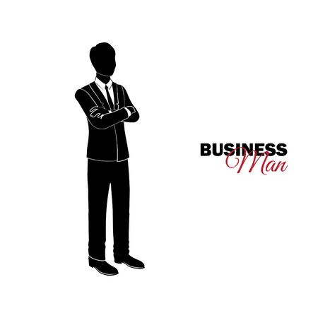 Businessman, Manager. A man in a business suit. Businessman folded his arms over his chest