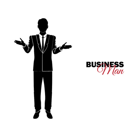Businessman, Manager. A man in a business suit. Businessman spreads his arms, is surprised