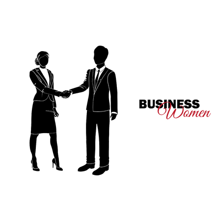 Businesswoman. Woman in business suit. Businesswoman shaking hands with a businesswoman