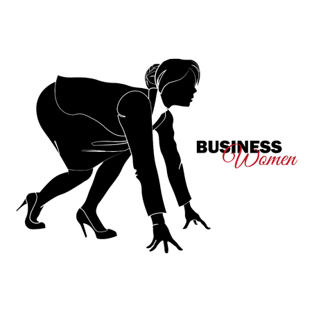 Businesswoman. Woman in business suit. Businesswoman at low start
