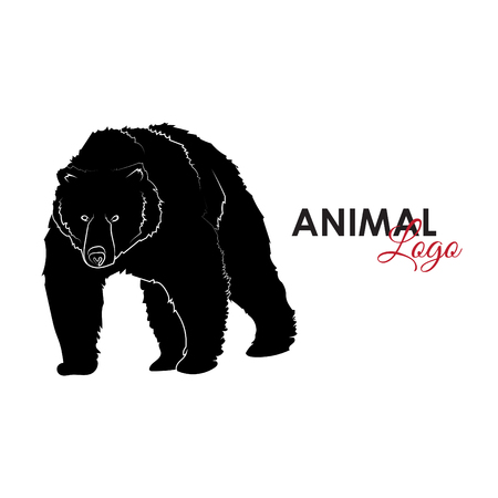 Grizzly bear icon Illustration