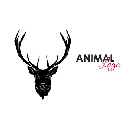 Head deer icon logo symbol