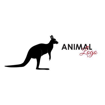 Kangaroo icon logo symbol vector illustration