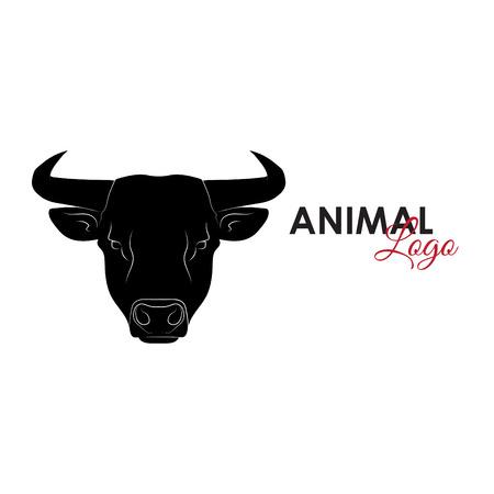 Bull icon logo symbol