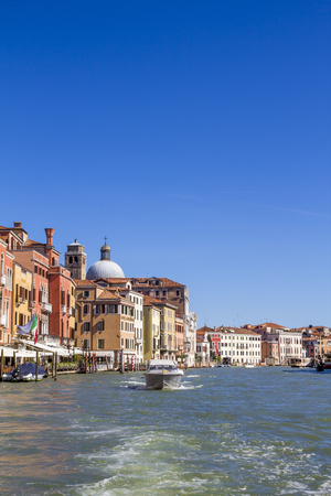houses on the Grand Canal in Venice
