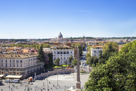 Piazza del Popolo (view from Pincho hill)