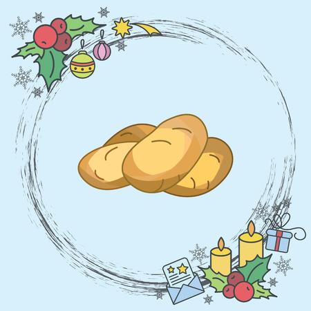 Color vector illustration. Potatoes Ilustração