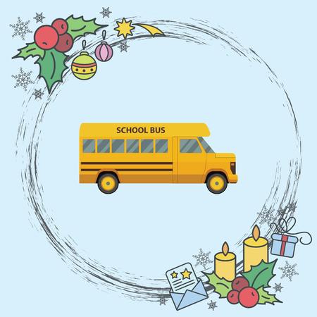 Color vector image. School bus