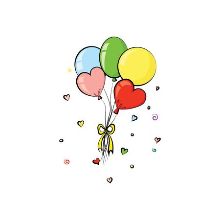 Vettore di palloncini. San Valentino. Vacanze
