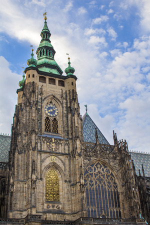 Rotunda St. Vitus in Prague. St. Vitus Cathedral. Gothic architecture.