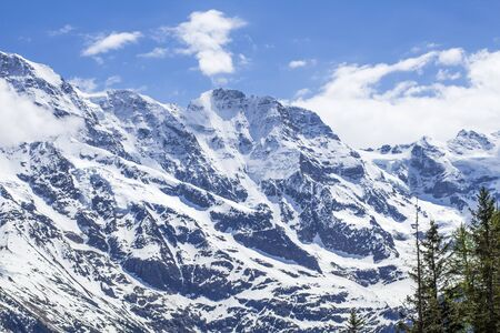 Swiss Alps. Alpine mountains. Mountain landscape. Tourist photo. Spring in the Alps