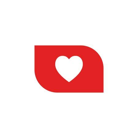 heart, like vector icon Ilustração