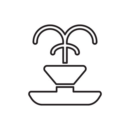 fountain line icon vector Ilustração