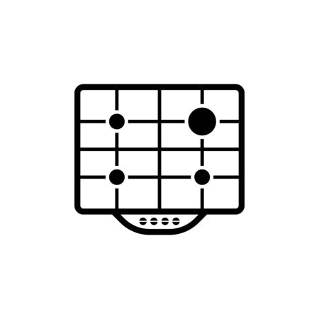 gas surface plate vector icon Ilustração