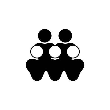 user group vector icon Ilustração