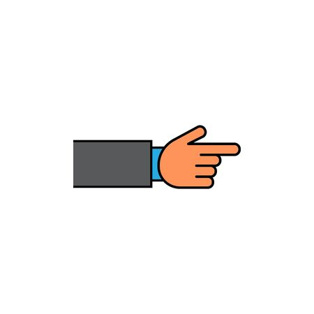 Pointing hand icon vector color
