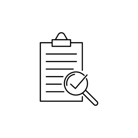 compliance vector line icon, quality check sign