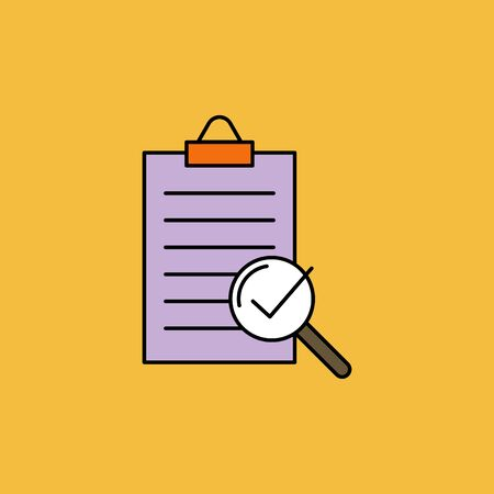 compliance vector color icon, quality check sign