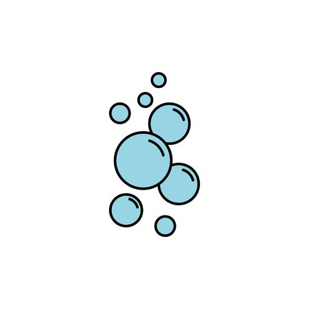 bubble vector color icon