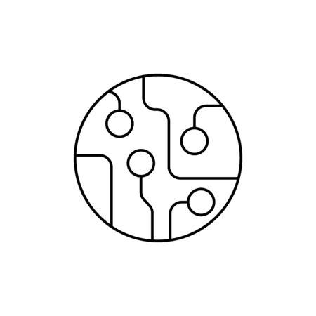 circuit board line icon vector  イラスト・ベクター素材
