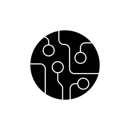 circuit board icon vector