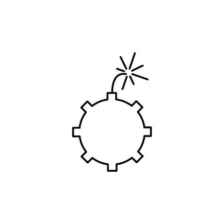 bomb vector line icon