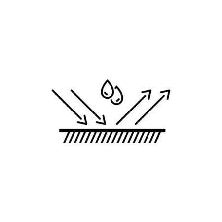 water repellent surface vector line icon Ilustração