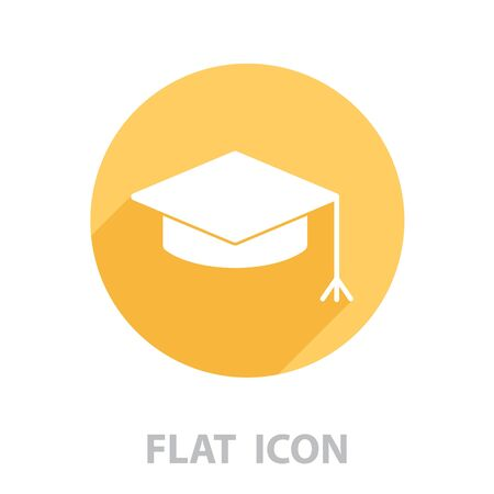 Graduation hat cap icon. vector illustration